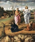 transfiguration of christ detail ii by giovanni bellini painting