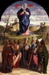 giovanni bellini acrylic paintings - virgin in glory with saints by giovanni bellini
