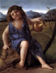 young bacchus by giovanni bellini painting