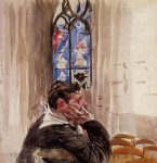 portrait of a man in church by giovanni boldini acrylic paintings