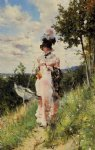 the summer stroll by giovanni boldini painting
