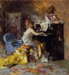 woman at a piano by giovanni boldini painting