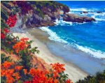 laguna floral by gregory hull painting