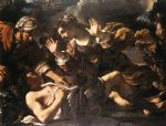 guercino art - ermina finds the wounded tancred by guercino