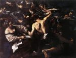guercino art - samson captured by the philistines by guercino