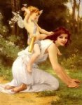 guillaume seignac beautiful girl angel painting