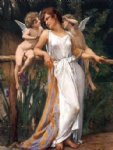 guillaume seignac acrylic paintings - nymph and cherubs by guillaume seignac