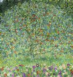 gustav klimt apple tree i painting-76944
