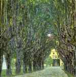 avenue of schloss kammer park by gustav klimt painting