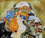 baby cradle by gustav klimt painting