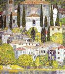 gustav klimt famous paintings - chiesa a cassone sul garda by gustav klimt
