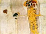 entirety of beethoven frieze left3 by gustav klimt painting