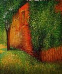 farmhouse at kammer by gustav klimt painting