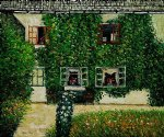 forsthaus in weissenbach am by gustav klimt painting