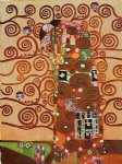 fulfillment by gustav klimt painting