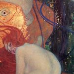 goldfish (detail) by gustav klimt painting