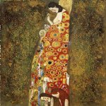 hope ii full view by gustav klimt painting