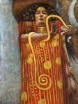 hygieia detail from medicine by gustav klimt painting