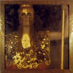 pallas athene by gustav klimt painting