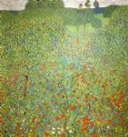 gustav klimt poppy field paintings