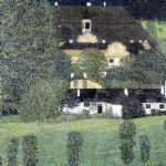 schloss kammer am attersee ii by gustav klimt painting
