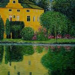 gustav klimt schloss kammer on attersee iii painting