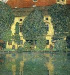 schloss kammer on the attersee by gustav klimt painting