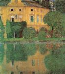 gustav klimt famous paintings - schloss kammer sull attersee by gustav klimt