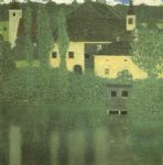 schloss unterach on the attersee by gustav klimt painting