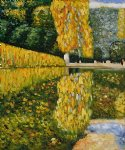 gustav klimt schonbrunn park oil paintings