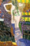 sea serpents by gustav klimt painting