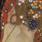 sea serpents iv (detail) by gustav klimt painting