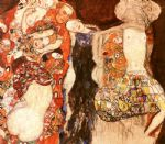 the bride by gustav klimt painting