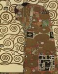 the fulfillment (detail i) by gustav klimt painting