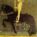the gold cavalier by gustav klimt painting