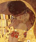 the kiss (detail) by gustav klimt painting