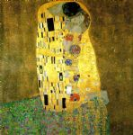 the kiss by gustav klimt painting