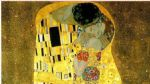 the kiss cropped by gustav klimt painting