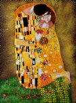 the kiss full view ii by gustav klimt painting