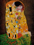 the kiss full view iii by gustav klimt painting