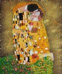 the kiss fullview by gustav klimt painting