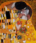 the kiss iv by gustav klimt painting
