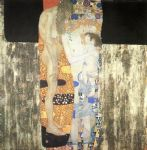 gustav klimt the three ages of woman posters