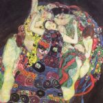 gustav klimt the virgins (le vergini) painting