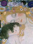 gustav klimt three ages of woman mother and child (detail iii) posters