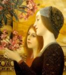 gustav klimt two girls with an oleander detail prints