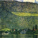 unterach am attersee by gustav klimt painting