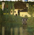 water castle by gustav klimt painting