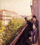gustave caillebotte art - a balcony by gustave caillebotte