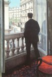 gustave caillebotte art - a young man at his window by gustave caillebotte